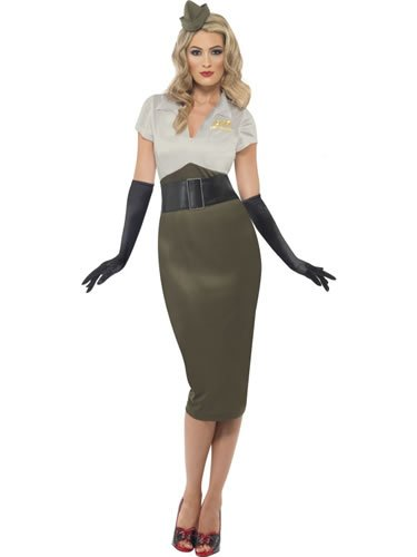 Karneval Damen Kostüm Army Pin Up Kleid sexy Soldaten Lady Gr.36/38 (Army Pin Up Kostüme)