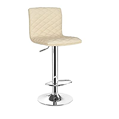 Horizon Cream Breakfast Kitchen Leather Bar Stool Barstools x 2