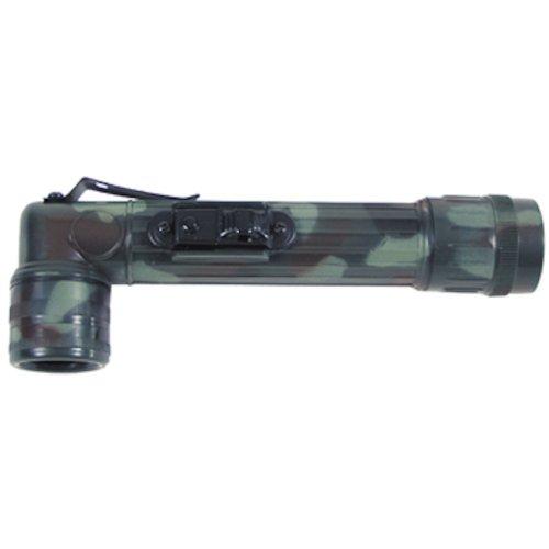 US Winkeltaschenlampe, mini, flecktarn, mit Schutzbacken, versch. Farbfilter flecktarn/BW camo