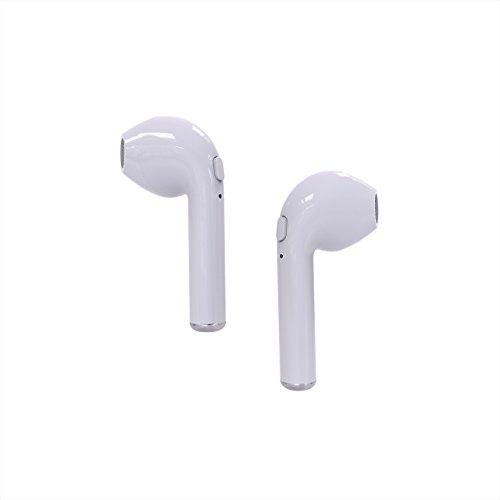 Auriculares inalámbricos para iphone Naack. Mini auriculares inalámbricos. Cascos Bluetooth para iphone, color blanco. auriculares para iphone 7. auriculares para samsung S7