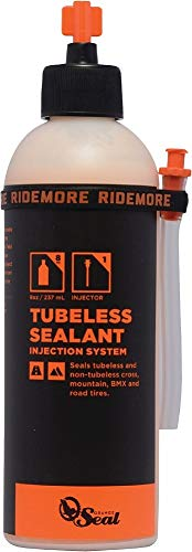 OrangeSealCycling Tubeless Tire Sealant with Injectorn, 8-Ounce -