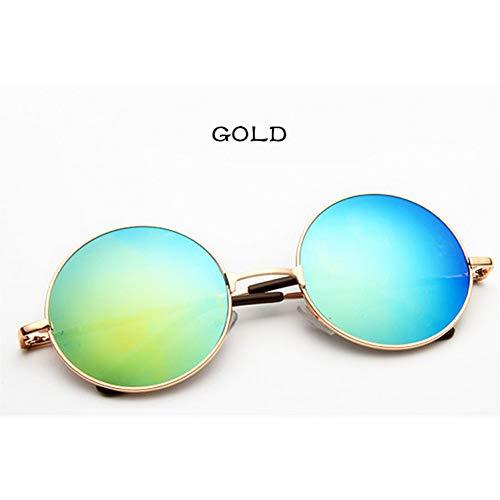 LETAM Sonnenbrille Brille Frauen Männer Sonnenbrille Runde Metallrahmen Markendesigner Mirrored Eyewears Retro Frauen Männliche Sonnenbrille