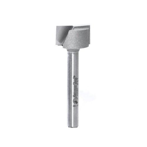 Amana Werkzeug 45560Stemmanlage für unten Reinigung 2-flute up-shear Hartmetallbestückt Router-Bit, 1/4-Zoll-Schaft -