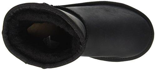 UGG Unisex-Kinder Classic Short Deco Kurzschaft Stiefel Schwarz (Nero)