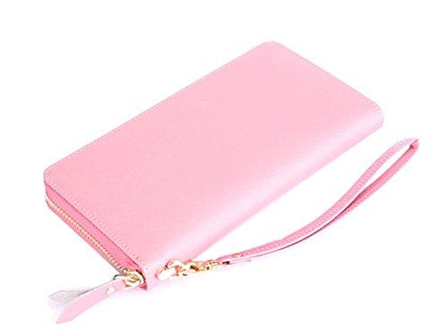 Sezione In Pelle Ms. Lungo Frizione Ad Alta Capacità Pink