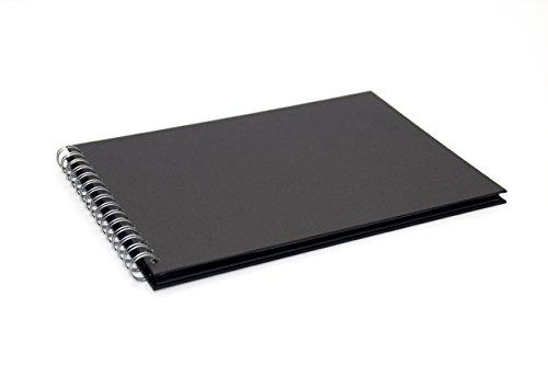Pink Pig A4 Landscape Scrapbook | Recycled Black Paper, 20 Leaves | Eco Black Test
