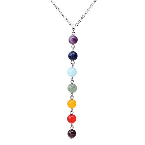 EJY Einfache Bunte Perlen Hängende Halsketten-Beiläufige Strickjacke-Ketten Kleidungs-Zusätze -