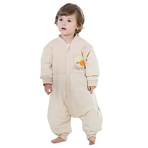 Babyschlafsack mit Füßen Winter, Tragbare Decke mit Beinen, Schlafsack für Kleinkinder Langarm-Schlafanzug für Kleinkinder mit Fuß