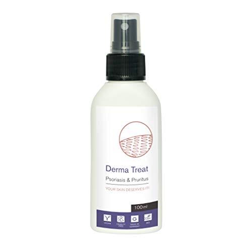 Spray per trattamento dermatite e psoriasi Derma Treat | 100 ml | Per psoriasi su testa mani e piedi | Alternativa a lampada e crema al cortisone