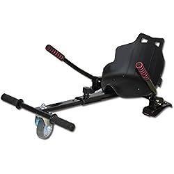 Hover Kart COMPLEMENTO para tu SCOOTER HOVERBOARD electrico (Distintos colores)) (Negro)