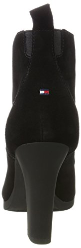 Tommy Hilfiger Damen N1285anni 2b Stiefel Schwarz (Black)