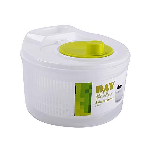 GuLouFanA Salat Spinner Große Kapazität Obst und Gemüse Dryer Quick Dry Design BPA Free Dry Off and Drain Lettuce und Gemüse mit Ease für Tastier-Salate und Fastenfutter Prep (Gemüse Prep)