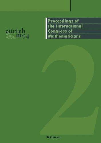Proceedings of the International Congress of Mathematicians: August 3–11, 1994 Zürich, Switzerland