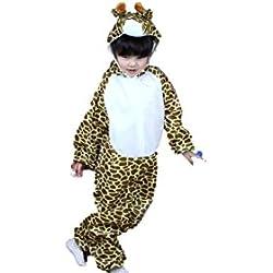 Niños Disfraces de Animales Niños Niñas Unisex Disfraces Cosplay Niños Onesie (Jirafa, M (para niños de 90 a 105 cm de Altura))