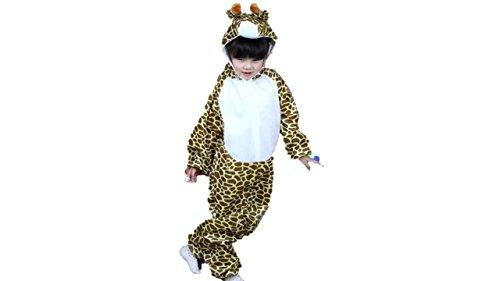 Jungen Mädchen Unisex Kostüm Outfit Cosplay Kinder Strampelanzug (Giraffe, L (Für Kinder 105 - 120 cm groß)) ()