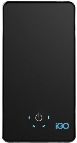 iGo PowerBank tragbarer 6100mAh Zusatzakku für Smartphones & Co (1x USB 2.1A, 1x USB 1A) Schwarz Igo Smartphone