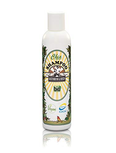 100{52e45603e38b64c13843c71e6fcaafc6c248f5eadf066442d0ab297f928bdb27} natürliches Chia Haar Shampoo - Bio, vegan & ideal für die tägliche Haarwäsche - Haarpflege Produkte für mehr Kraft, Glanz und Volumen - 200ml von Kastenbein & Bosch