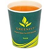 GREENFIT Green Tea Cups : Tulsi Flavor (Jar of 15 Cups)