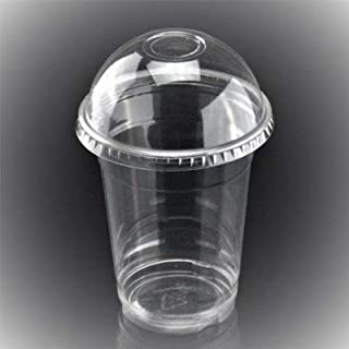 G&S PACKING UK LTD 50 X 12oz/340ml Smoothie Cups with Dome Lids