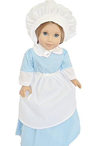 BLUE PILGRIM GOWN FOR AMERICAN GIRL
