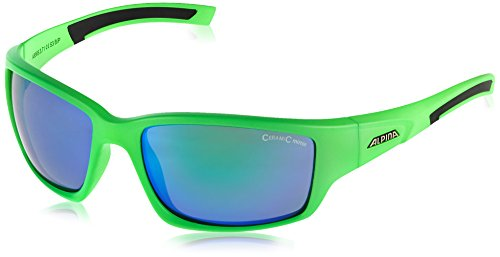 Alpina Keekor Outdoorsport-Brille, Neon Green-Black, One Size