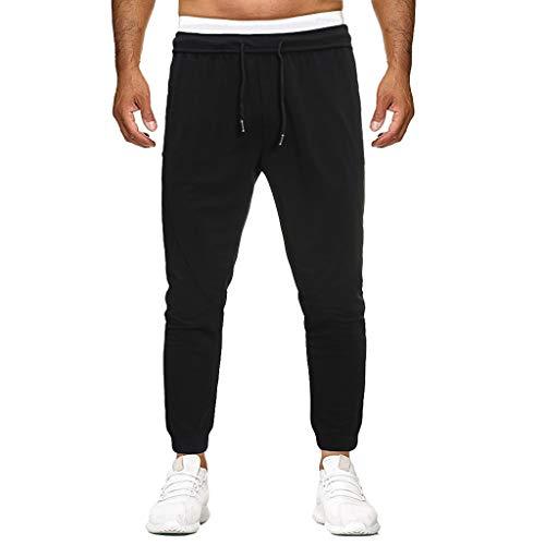 SHE.White Herren Jogginghose Sportshose Freizeit Traininghose Fitness Sweatpants Lang Hosen Baumwolle Freizeithose Slim Fit Einfarbig Große Größe Pants M-4XL (Leggings Indischen)