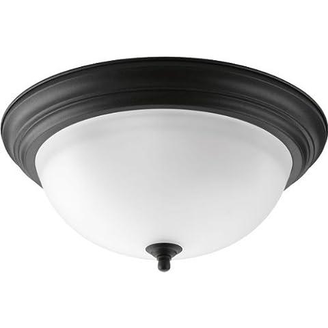 Progress Lighting P3926-80 3-Light Flush Mount with Etched Glass Bowl by Progress Lighting