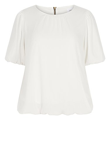 Zizzi Damen Tunika große Größen Off-White