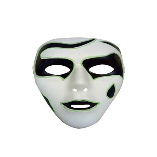 Igemy Allerheiligenfest Leuchtende Geist Maske Kostüm Halloween Party Horror Skeleton Totenkopf Vollmaske für Karneval Festival Party (B)