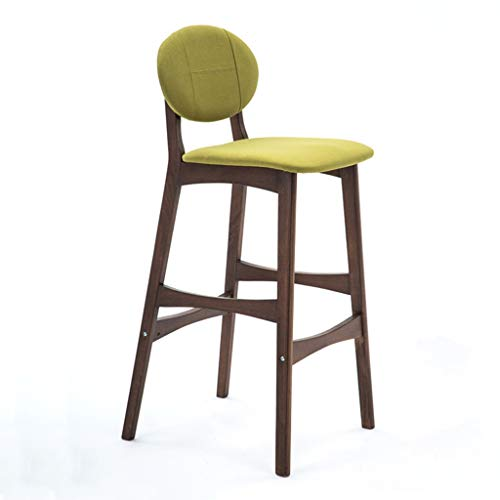 GXJ-stool Tischhocker, Tuch Atmungsaktive Holz Barhocker The Mall Optische Shop Barhocker Schlafzimmer Wohnzimmer Hohe Hocker Höhe 75 cm (Farbe : Grün)