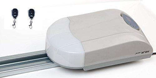 Garagentoröffner 600N bis 8,5m² und 90 kg Garagentorantrieb + 2 Handsender (Grey)