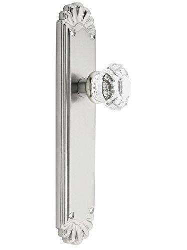 Trenton Door Set With Fluted Crystal Knobs Privacy Satin Nickel. Doorsets. by Emtek Fluted Crystal