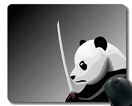 Yanteng Gaming Mouse Pad mit genähtem Rand, Pinguine Tierpanda, Mauspad, Rutschfeste Gummibasis Mousepad für Laptop, Computer