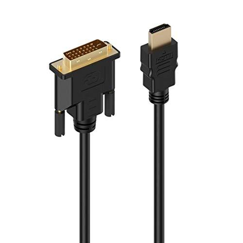 Candyboom HDMI-zu-DVI-D-Adapter Videokabel-HDMI-Stecker auf DVI-Stecker auf HDMI-zu-DVI-Kabel 1080p Hochauflösende LCD- und LED-Monitore (1 Hdmi-kabel Roku Für)