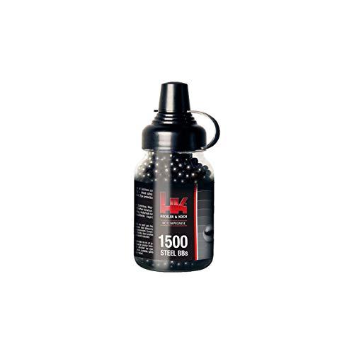 Heckler & Koch - Munición airsoft (acero, 4,5mm (.177)), color negro