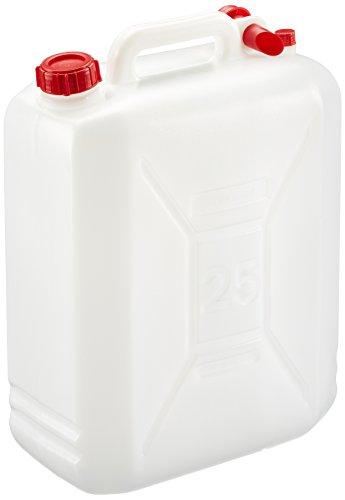 Gelert - Tanica in polietilene per trasporto liquidi, con tappo, Bianco, 25 L