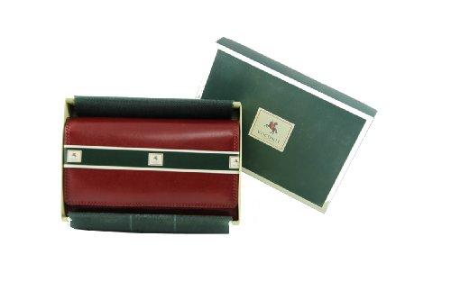 """Visconti portafoglio di pelle da donna """"Monza"""" Italian Leather Purse (MZ-12): (marrone (brown)) rosso (red)"""