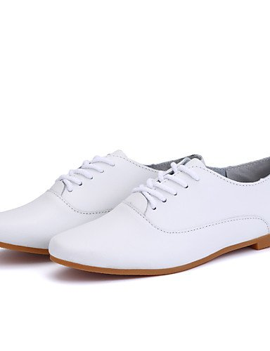 ZQ 2016 Scarpe Donna - Stringate - Ufficio e lavoro / Formale / Casual - Punta arrotondata - Piatto - Finta pelle - Bianco , white-us9 / eu40 / uk7 / cn41 , white-us9 / eu40 / uk7 / cn41 white-us6.5-7 / eu37 / uk4.5-5 / cn37