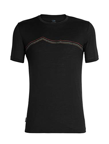 Icebreaker Herren Mens Tech Lite SS Crewe Rangitoto Triple T-Shirt, Black, M -