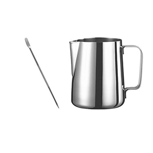 Barista 1 Licht (Gazechimp Edelstahl Kaffee Aufschäumen Milch Tee Latte Krug 600ml + Espresso Kunst Nadel Stift für Kaffee Maschine Cafe Werkzeug Set)