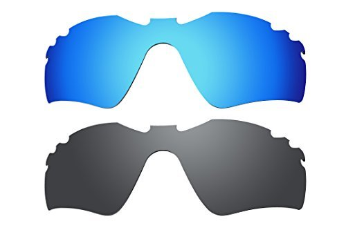 BVANQ 2 Paar Lenses Replacement Polarized Blue & Black for Oakley Radar Path Vented by