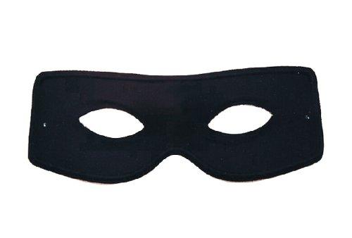 Kostüm Reiter Maske (Karneval Zubehör Domino schwarzer Reiter Maske zum Fasching)