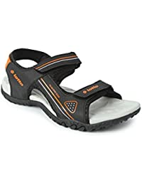 Lotto Men Refer Black/Orange Sandals 8