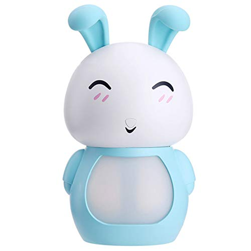 REFURBISHHOUSE 200Ml USB Difusor de Aceites Esenciales de Aroma Humidificador Conejo de Niebla Frío Ultrasónico Purificador de Aire Led Luz de Noche para Regalo de Oficina Casa (Azul)