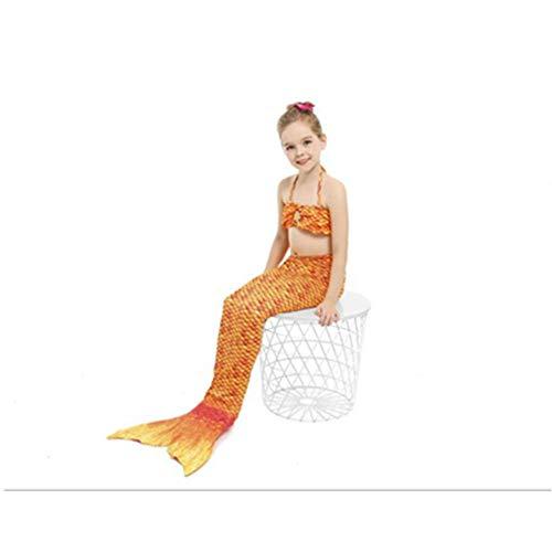 Tragen Meerjungfrau Kostüm Piraten - NiQiShangMao Ariel Party Cosplay Vestido Mädchen Die Kleine Meerjungfrau Badeanzug Prinzessin Schwimmen Schwanz 10 Farben Kinder Schwimmbare Kleidung
