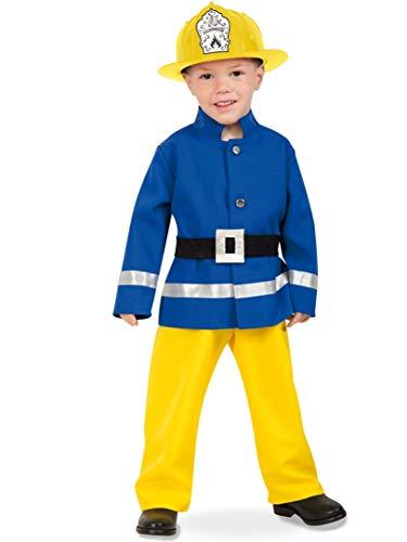 narrenwelt Feuerwehrmann -Kleiner Held - Jacke + Hose + Gürtel Größe 116