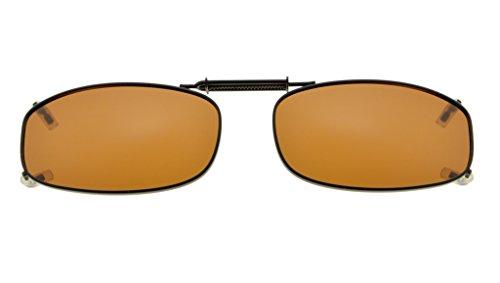Eyekepper Metallrahmen Felge polarisierte Linse Clip auf Sonnenbrille 48x27MM Braun Linse
