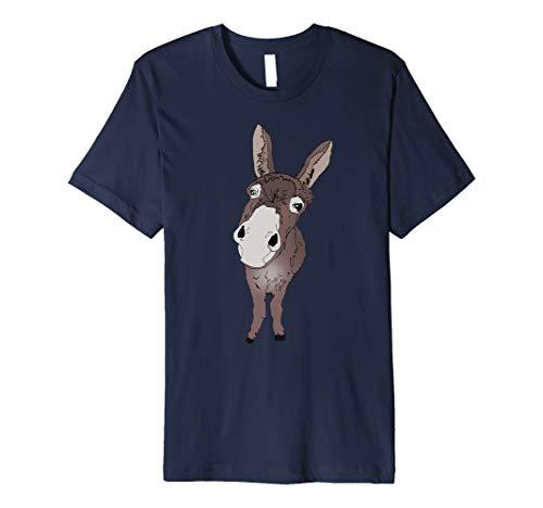 lustig guckender Esel Tshirt Geschenkidee für Esel & Pferde