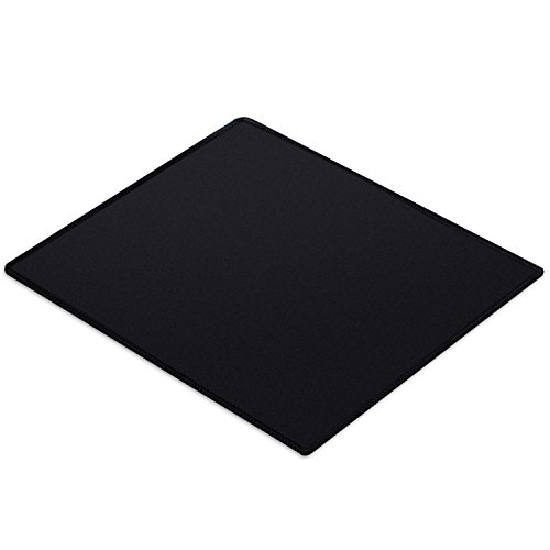 Xyk gaming mouse pad, piccolo tappetino per il mouse con bordi rifiniti, di panno, base in gomma antiscivolo, laser e mouse ottico caricabatteria – nero, 250*210
