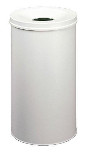 Durable 330710 Papierkorb Safe rund (60 Liter) grau Stahl-safe
